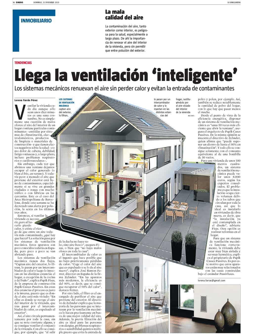 Arriba la ventilació intel·ligent – La Vanguardia
