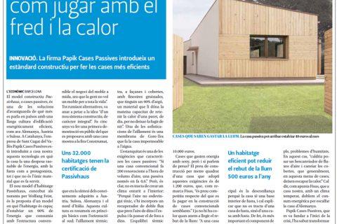 Entrevista en el diario L'Econòmic