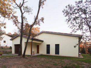 Façana SATE casa passiva del Moianés- Papik Cases Passives