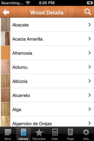 Enciclopèdia de la fusta per a iPhone