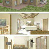 render interior segona casa passivhaus catalunya
