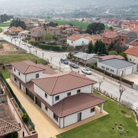 vista aèria posterior de K-Hostalets una casa certificable sota l'estàndard Passivhaus construïda per Papik Cases Passives
