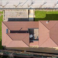 vista zenital de K-Hostalets una casa certificable sota l'estàndard Passivhaus construïda per Papik Cases Passives